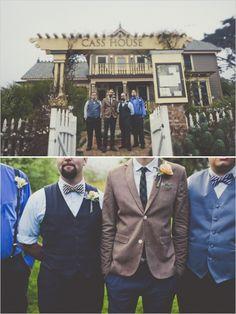 brown and blue groomsman ideas #groom #groomsmen #weddingchicks http://www.weddingchicks.com/2014/02/17/enchanting-rainy-day-wedding/