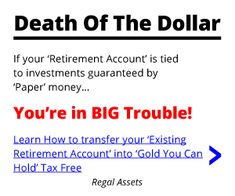 Your dollars won't help you in the future unless you turn them to Gold