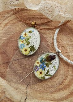 Epoxy resin pendant dry flower jewelry fairy necklace