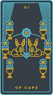 Six of Cups card from the Golden Thread Tarot Tarot Deck Golden Thread Tarot, Tarot Card Meanings, We Are Young, Major Arcana, Open Book, Tarot Reading, Tarot Decks, New Beginnings, Tarot Cards