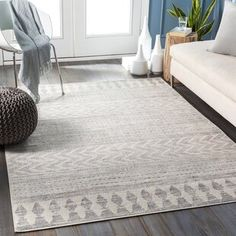 Well Woven Cabana Geometric Yellow/White Area Rug | Wayfair Orange Area Rug, White Area Rug, Blue Area, Grey Rugs, Beige Area Rugs, Chevron Area Rugs, Gris Taupe, Home Modern, Modern Contemporary