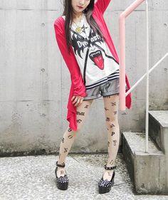 Studs x Bijou Drape Cardigan w/ Belt / See more at http://www.cdjapan.co.jp/apparel/new_arrival.html?brand=LIS #harajuku