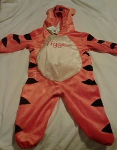 Disney Baby Tigger Plush Halloween Hooded Orange Jumpsuit Costume - 12 Mo  | eBay