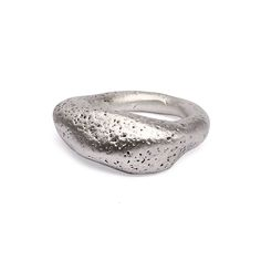 Silver Rock Ring - Created by Flux Studio