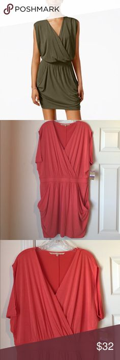 🆕 Rachel Roy CORAL Romper 🌺 NWT/Never worn romper with banded waist & pockets. Lightweight/tshirt material. Lined. 🌺Perfect for Saturday shopping or fun in the sun! Color is Campari (light coral). It has a washed silk look to it. Tons of styling options. LMK if you have questions. RACHEL Rachel Roy Dresses Mini