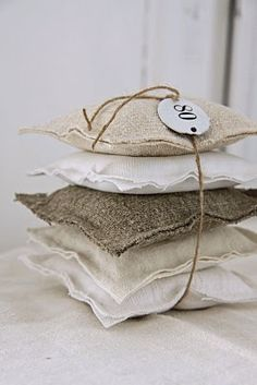 I've been immersing myself in embroidery and have a sachet conundrum. How to create an embroidered sachet that is reusab. Burlap Projects, Burlap Crafts, Diy Crafts, Lavender Bags, Lavender Sachets, Textiles, Scented Sachets, Little Presents, Paris Chic