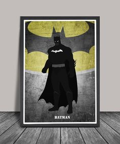 Batman Poster.Superheroes Minimalist .Batman Superhero print, Heroes Illustrations, Wall art, Artwork, DC comics poster, Gift,Gift for him by charmming on Etsy https://www.etsy.com/listing/243239274/batman-postersuperheroes-minimalist