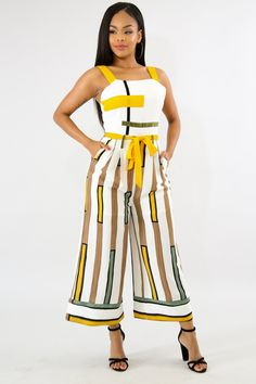 6e06b478d33 New Vertical Striped Sexy Jumpsuit Women Summer Spaghetti Strap Backless  Romper Bow Tie Double Side Pocket Wide Leg Overall Price history.