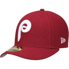 new styles 2cdec ddad0 Men s New Era Maroon Philadelphia Phillies Cooperstown Collection Classic  Wool Low Profile 59FIFTY Fitted Hat
