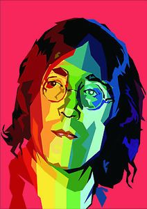 PSYCHEDELIC PHOTO PORTRAIT OF JOHN LENNON A3 POSTER REPRINT 260GSM | eBay