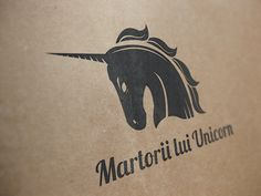 Martorii lui Unicorn- Logo by Elena-Greta Apostol, via Behance