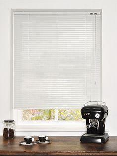 Premium Perforated White Venetian Blind - 25mm Slat from Blinds 2go
