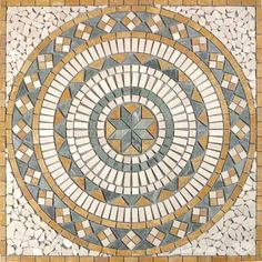 Our Colored Tumbled Marble Diamond Medallion.