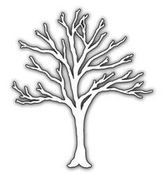 вытынанка шаблон трафарет дерево зимой для вырезания из бумаги и украшения окна.