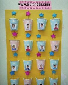 Fantastic DIY Classroom decor Ideas to motivate and also aid you get started - Invite your pupils this year to the institution with an impressive course setting making use of styles! Classroom Birthday, Classroom Board, Preschool Classroom, Classroom Ideas, Birthday Bulletin Boards, Birthday Wall, Diy Classroom Decorations, School Decorations, Classroom Displays