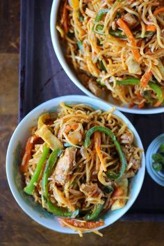 Schezwan Chicken Noodles Recipe
