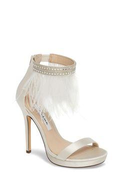Jeena Organza Flower Ankle Strap Dress Sandals mZOOL4aw