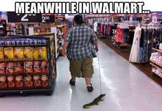 Walmart people ...Look dude don't come my way with that because his behind will be my next pair of shoes! What the truck?