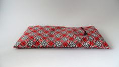 Yoga eye pillow cover red grey and white geometric star