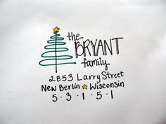 Holiday Christmas Letter Addressing