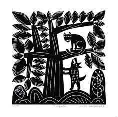 Hilke Macintyre, Cat and Dog | Original Linocut