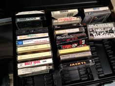 I have this same cassette tape holder and metal tapes still! 1980s Childhood, My Childhood Memories, U2 October, Watch Music Video, Right In The Childhood, Computer Chip, Old Music, Retro Toys, The Good Old Days
