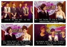 Hahaha! That's right Kris! Show dem gurls yo Chinese!!! Get it straight women!