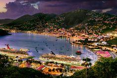 Charlotte Amalie Harbor in St Thomas, Virgin Islands