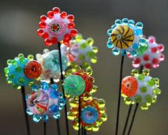 Jennifer Cameron - Headpin Beads on 19g dark annealed steel wire | Flickr - Photo Sharing!