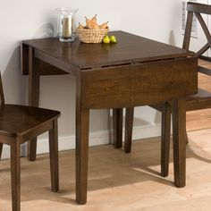 Jofran Taylor Drop Leaf Dining Table - The Jofran Taylor Drop Leaf Dining Table is perfect for small spaces - and surprise dinner guests. Crafted with durable hardwood solids and cherry ven...