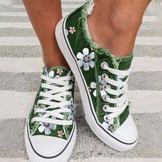 Fashion flower canvas shoes – dressangle