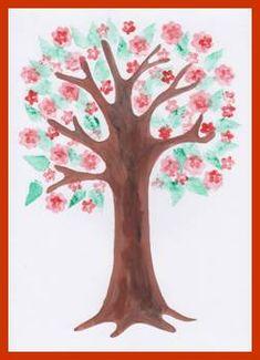 Rozkvetlý strom – otisk