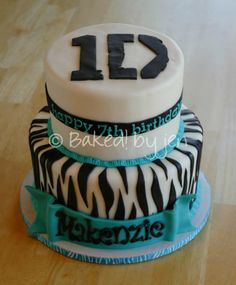 One Direction birthday cake ~ Baked! by jen 2013