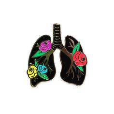 Image of ANATOMY BLOOM – LUNGS pin