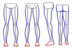 how to draw legs step 6