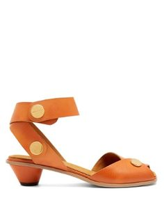Collection cone-heel faux-leather sandals  | Stella McCartney | MATCHESFASHION.COM US