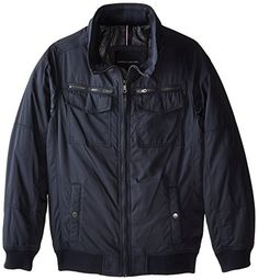 Tommy Hilfiger Mens BigTall Polytwill Two Pocket Bomber Jacket *** You can find more details by visiting the image link.