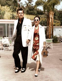 Old Hollywood Glamour couple Robert Wagner & Natalie wood in Palm Springs