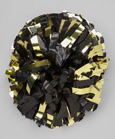 Look at this #zulilyfind! Black & Gold Pom-Pom by Motionwear #zulilyfinds
