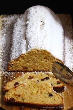 Juicy marzipan curd stollen - Maria, I like it! - Juicy marzipan curd stollen – Maria, I like it! Holiday Baking, Christmas Desserts, Christmas Baking, Delicious Cake Recipes, Yummy Cakes, Marzipan, Baking Recipes, Cookie Recipes, Dessert Parfait