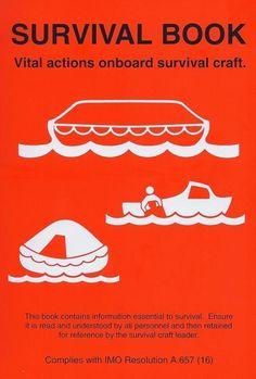 """Lifeboat & Liferaft Survival Booklet 170 x 215mm """"Waterproof Plastic"""""""