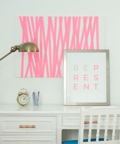 Office space, love the simple artwork.