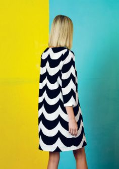 Kuohu dress / Marimekko S/S women's fashion and style. Design Textile, Inspiration Mode, Get Dressed, Bunt, Editorial Fashion, Spring Fashion, Style Me, Dress Up, Smock Dress