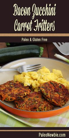 Shake up your breakfast routine with these easy fritters packed with a healthy serving of fresh veggies and the savory goodness of bacon. #paleo #glutenfree