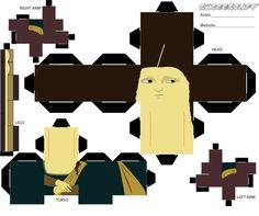 MonaLisa CUBEE to PRINT + CONSTRUCT @ http://sobkaen.deviantart.com/art/Mona-Lisa-Cubee-Instructions-103237241