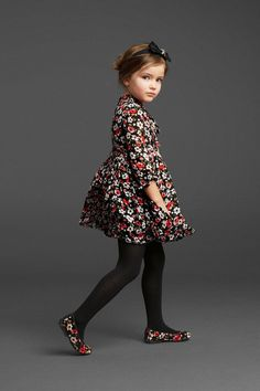 Dolce&Gabbana Winter 2014 Kids collection so cute with matching shoes