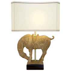Clay Horse Table Lamp - Hollywood Regency Regency Table