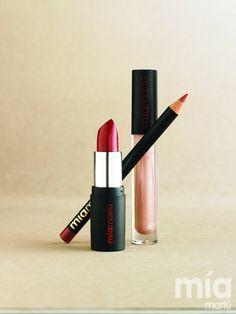 Mia Mariu Hydrating Stick Gloss Encanto – Intense Lip Liner Merlot – Luminous Lip Gloss Romance www.miamariu.com