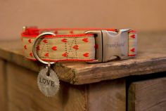 "have you seen our new etsy Shop? Including this heart dog collar ""Valentine"""