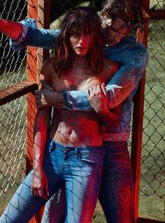Alyssa poses with Shaun de Wet for the sultry editorial